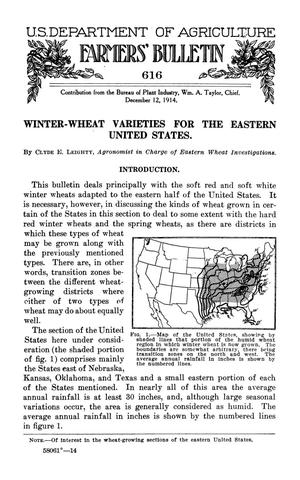 Primary view of object titled 'Winter-Wheat Varieties for the Eastern United States'.