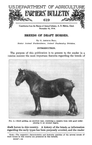 Primary view of object titled 'Breeds of Draft Horses'.
