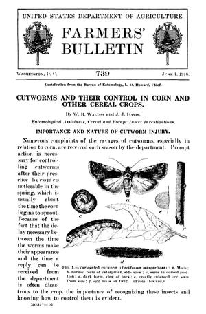 Primary view of object titled 'Cutworms and Their Control in Corn and Other Cereal Crops'.