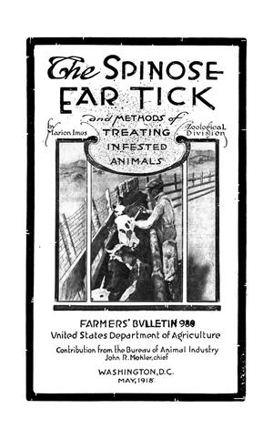 Primary view of object titled 'The Spinose Ear Tick and Methods of Treating Infested Animals'.