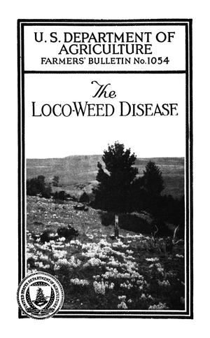 Primary view of object titled 'The Loco-Weed Disease'.