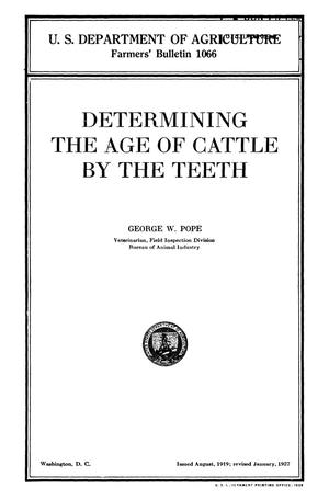 Primary view of object titled 'Determining the Age of Cattle by the Teeth'.