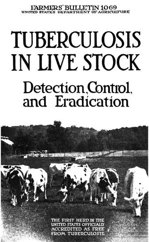 Primary view of object titled 'Tuberculosis in Live Stock: Detection, Control, and Eradication.'.