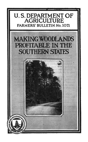 Primary view of Making Woodlands Profitable in the Southern States