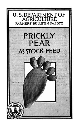Primary view of object titled 'Prickly Pear as Stock Feed'.
