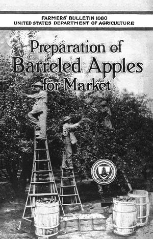 Primary view of object titled 'Preparation of Barreled Apples for Market'.