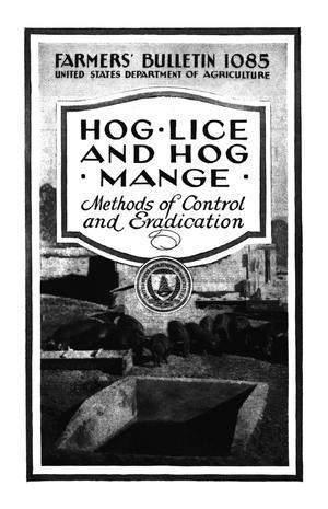 Primary view of object titled 'Hog Lice and Hog Mange: Methods of Control and Eradication.'.