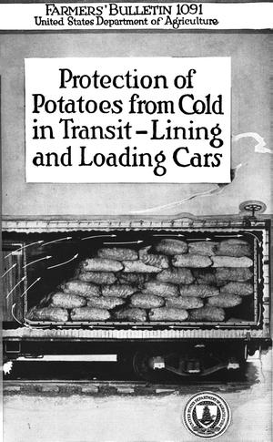 Primary view of object titled 'Protection of Potatoes from Cold in Transit-Lining and Loading Cars'.