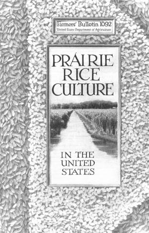 Primary view of object titled 'Prairie Rice Culture in the United States'.