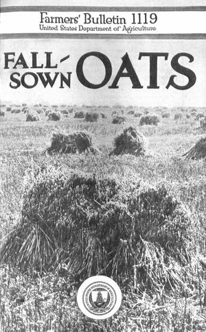 Primary view of object titled 'Fall-Sown Oats'.