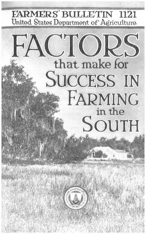 Primary view of object titled 'Factors That Make for Success in Farming in the South'.