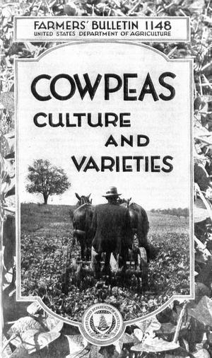 Primary view of object titled 'Cowpeas: Culture and Varieties'.
