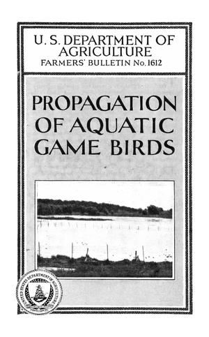 Primary view of object titled 'Propagation of Aquatic Game Birds'.