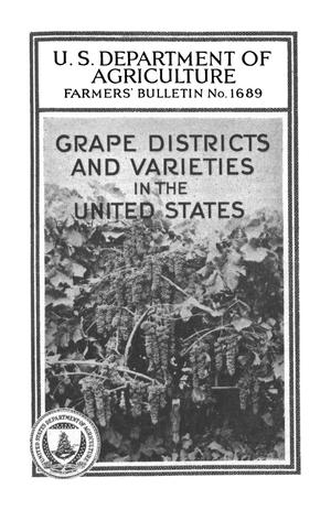Primary view of object titled 'Grape Districts and Varieties in the United States'.