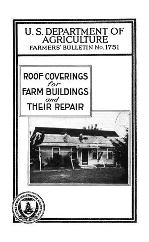 Primary view of Roof Coverings for Farm Buildings and Their Repair