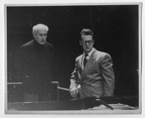 [Photograph: Arturo Toscanini and Don Gillis]