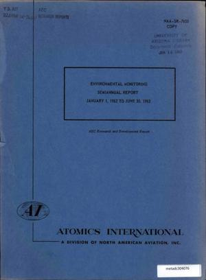 Primary view of object titled 'Environmental Monitoring Semiannual Report: January-June 1962'.