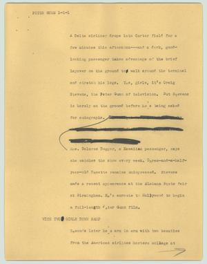 Primary view of object titled '[News Script: Peter Gunn]'.
