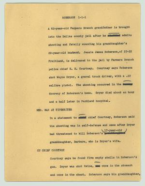 Primary view of object titled '[News Script: Roberson]'.