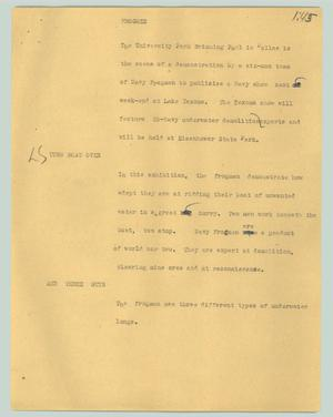 Primary view of object titled '[News Script: Frogmen]'.