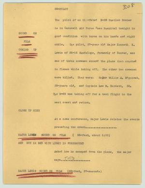 Primary view of object titled '[News Script: 58-pilot]'.