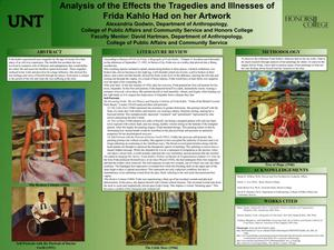 Primary view of object titled 'Analysis of the Effects the Tragedies and Illnesses of Frida Kahlo Had on her Artwork'.