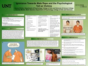 Primary view of object titled 'Ignorance Towards Male Rape and the Psychological Toll on Victims'.