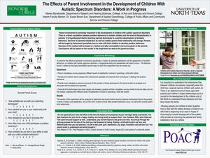 The Effects of Parent Involvement in the Development of Children With Autistic Spectrum Disorders: A Work in Progress