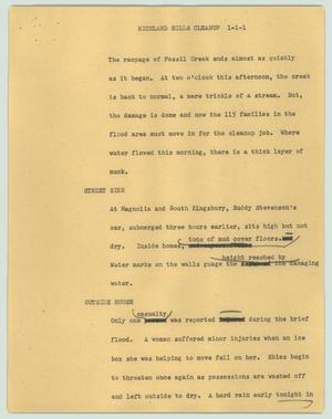 Primary view of object titled '[News Script: Richland Hills cleanup]'.