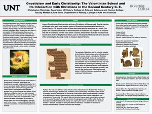 Primary view of object titled 'Gnosticism and Early Christianity: The Valentinian School and Its Interaction with Christians in the Second Century C.E.'.