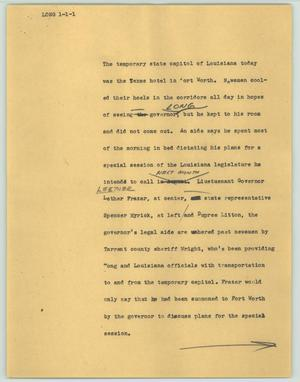 Primary view of object titled '[News Script: Long]'.