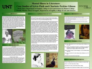 Primary view of object titled 'Mental Illness in Literature: Case Studies of Sylvia Plath and Charlotte Perkins Gilman'.