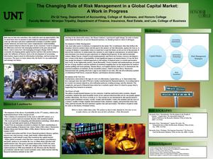 Primary view of object titled 'The Changing Role of Risk Management in a Global Capital Market: A Work in Progress'.