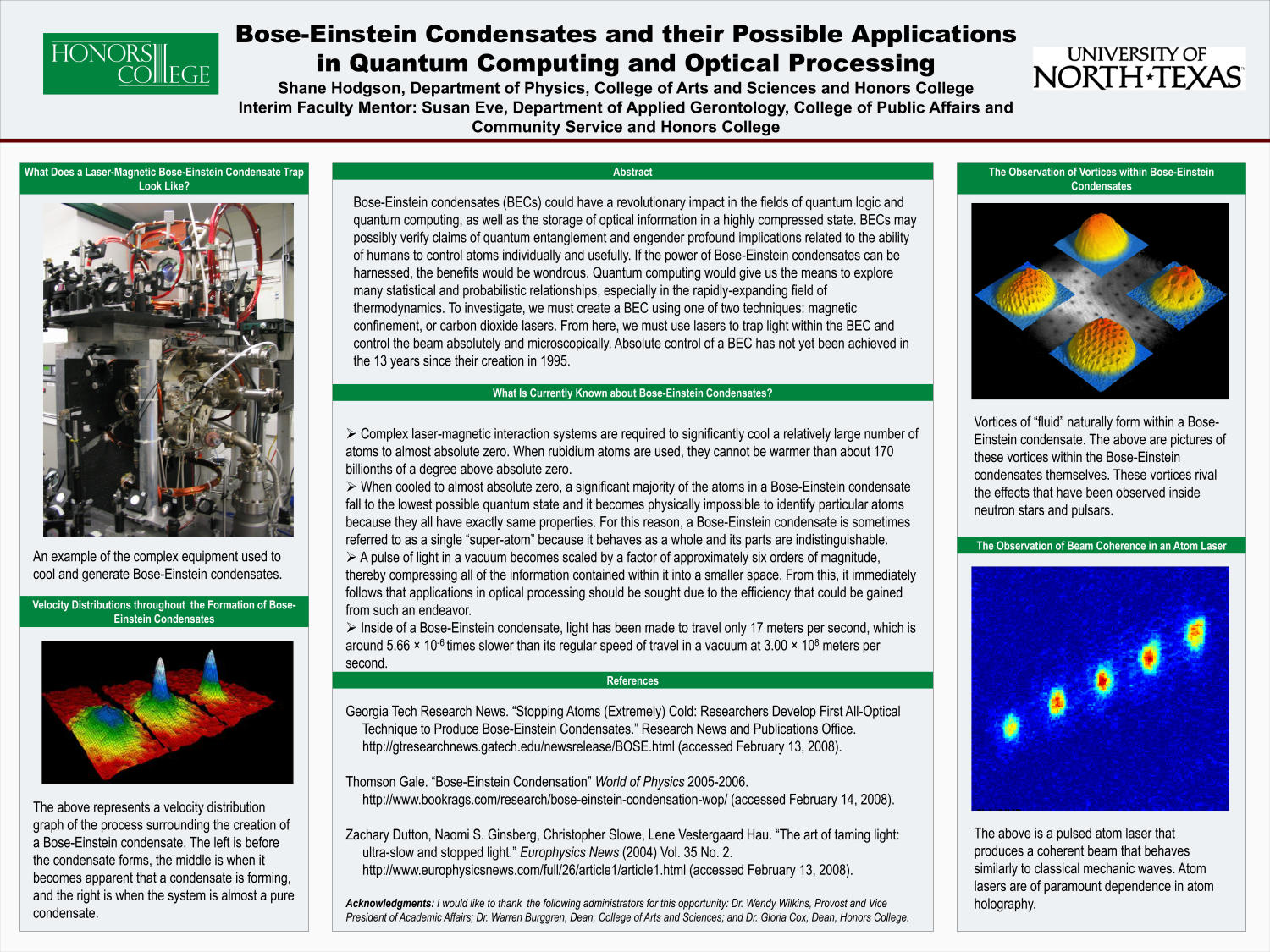 Bose-Einstein Condensates and their Possible Applications in