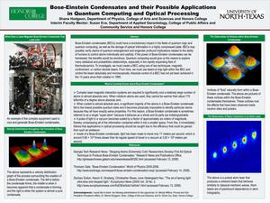 Primary view of object titled 'Bose-Einstein Condensates and their Possible Applications in Quantum Computing and Optical Processing'.