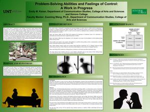 Problem-Solving Abilities and Feelings of Control: A Work in Progress