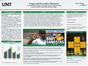 Primary view of object titled 'Gangs and Preventive Measures'.