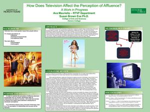 Primary view of object titled 'How Does Television Affect the Perception of Affluence? A Work in Progress'.