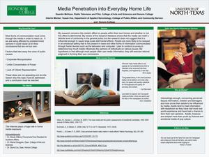 Primary view of object titled 'Media Penetration into Everyday Home Life'.