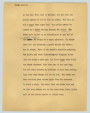 Primary view of object titled '[News Script: Skunk]'.