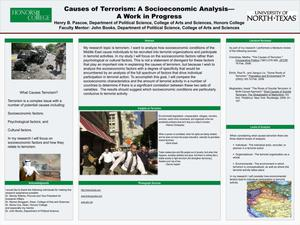 Primary view of object titled 'Causes of Terrorism: A Socioeconomic Analysis - A Work in Progress'.