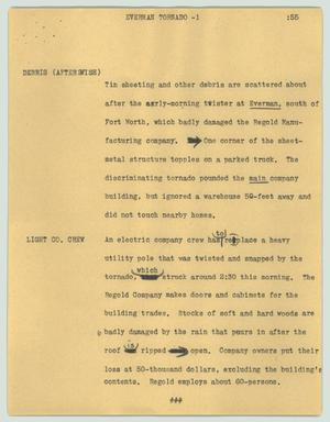 Primary view of object titled '[News Script: Everman tornado]'.