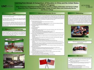 Primary view of object titled 'Learning from Abroad -- A Comparison of Education in China and the United States: A Work in Progress'.