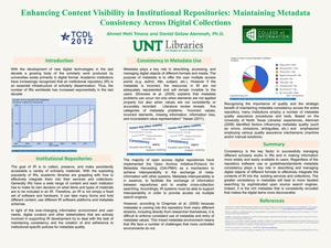 Primary view of object titled 'Enhancing Content Visibility in Institutional Repositories: Maintaining Metadata Consistency Across Digital Collections'.