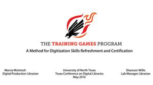 Primary view of object titled 'The Training Games Program: A Method for Digitization Skills Refreshment and Certification'.