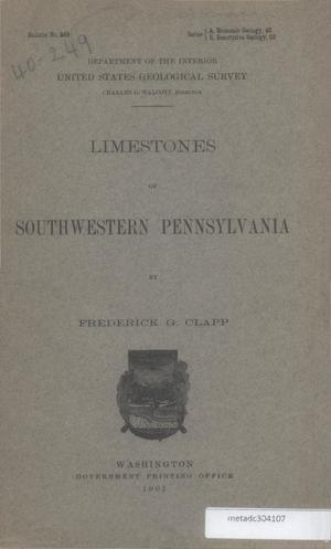 Primary view of object titled 'Limestones of Southwestern Pennsylvania'.
