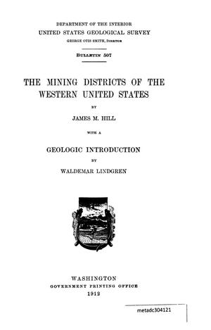 Primary view of object titled 'The Mining Districts of the Western United States'.