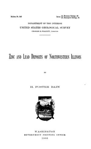 Primary view of Zinc and Lead Deposits of Northwestern Illinois