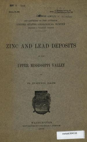 Primary view of object titled 'Zinc and Lead Deposits of the Upper Mississippi Valley'.