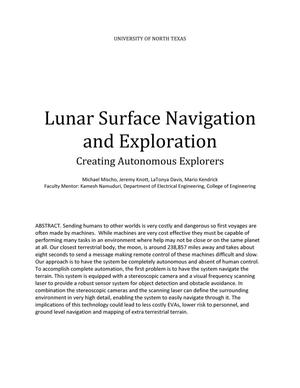 Primary view of object titled 'Lunar Surface Navigation and Exploration'.